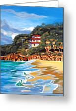 Crash Boat Beach Greeting Card by Milagros Palmieri