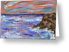 Crashing Of The Waves Greeting Card
