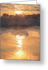 Crashing Wave At Sunrise Greeting Card