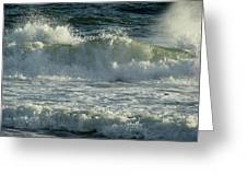 Crashing Wave Greeting Card by Sandy Keeton