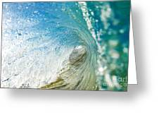 Crashing Wave Tube Greeting Card