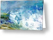 Crashing Waves Against The Shore Greeting Card