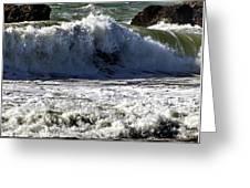 Crashing Waves At Goat Rock Greeting Card