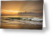 Crashing Waves At Sunrise Greeting Card