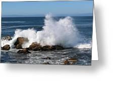 Crashing Waves  Greeting Card