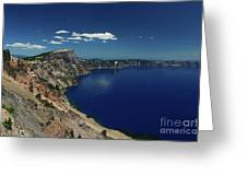 Crater Lake A Caldera Lake  Greeting Card