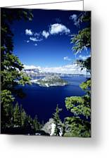 Crater Lake Greeting Card by Allan Seiden - Printscapes