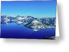 Crater Lake Blue Greeting Card