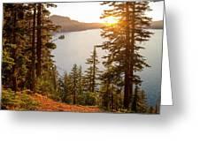 Crater Lake Greeting Card