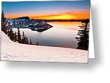 Crater Lake Dawn Greeting Card