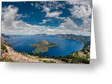 Crater Lake From Watchman Overlook Greeting Card