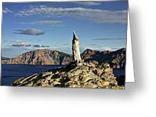 Crater Lake In The Southern Cascades Of Oregon Greeting Card by Christine Till