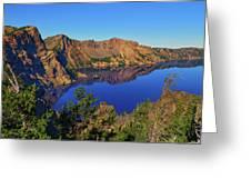 Crater Lake Morning Reflections Greeting Card