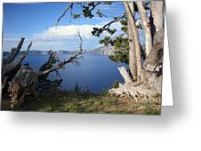 Crater Lake Perspective Greeting Card