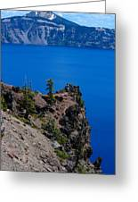 Crater Lake Point Overlook Greeting Card