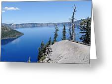 Crater Lake Scenic Panorama Greeting Card