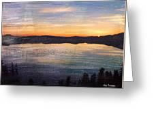 Crater Lake Sunrise Greeting Card