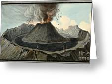 Crater Of Mount Vesuvius, Before 1767 Greeting Card