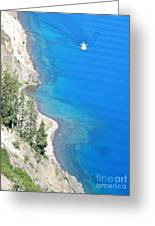 Crator Lake Shore Greeting Card