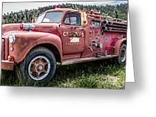 Crawford Fire Truck  Greeting Card