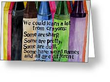 Crayons Greeting Card