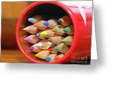 Crayons Greeting Card by Graham Taylor