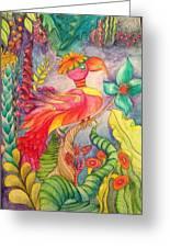 Crazy Bird 1 Greeting Card