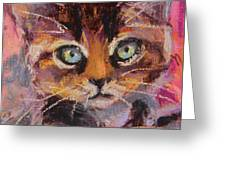 Crazy Cat Tabby  Greeting Card