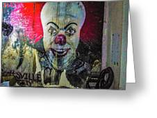Crazy Clown Greeting Card
