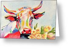 Crazy Cow Greeting Card