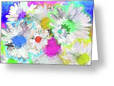 Crazy Daisies Greeting Card