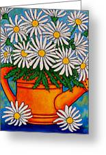 Crazy For Daisies Greeting Card