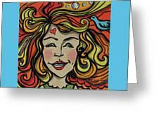 Crazy Hair Greeting Card