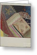 Crazy Quilt (detail) Greeting Card