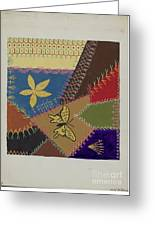 Crazy Quilt (section) Greeting Card