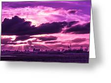 Crazy Sunset  Greeting Card