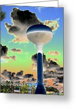 Crazy Tower Greeting Card