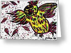 Crazybird Greeting Card
