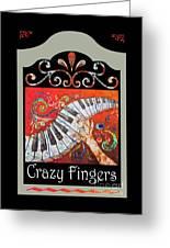 Crazyfingers_frame1 Greeting Card