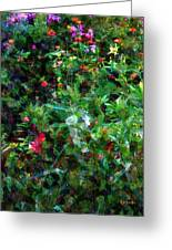 Crazyquilt Garden Greeting Card