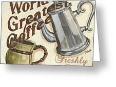 Cream Coffee 1 Greeting Card by Debbie DeWitt