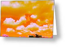 Creamsicle Sky Greeting Card