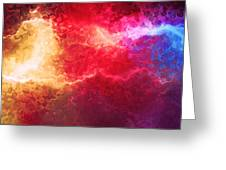 Creation - Abstract Art Greeting Card