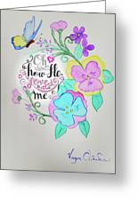 Creation By Virgin Greeting Card