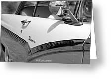 Creative Chrome - 1956 Ford Fairlane Victoria Greeting Card