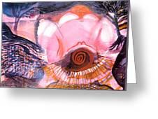 Creative Power Of Maternal Goddess Energy Greeting Card