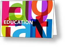 Creative Title - Education Greeting Card