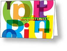 Creative Title - Opportunity Greeting Card