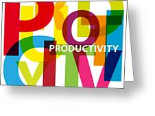 Creative Title - Productivity Greeting Card