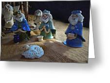 Creche Kings Greeting Card by Nancy Griswold